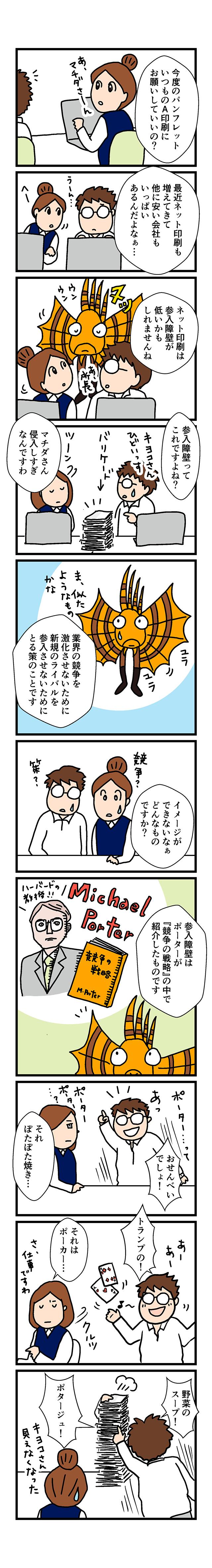 参入障壁マンガ